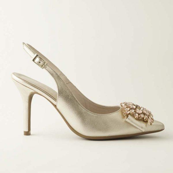 Zapato joya platino