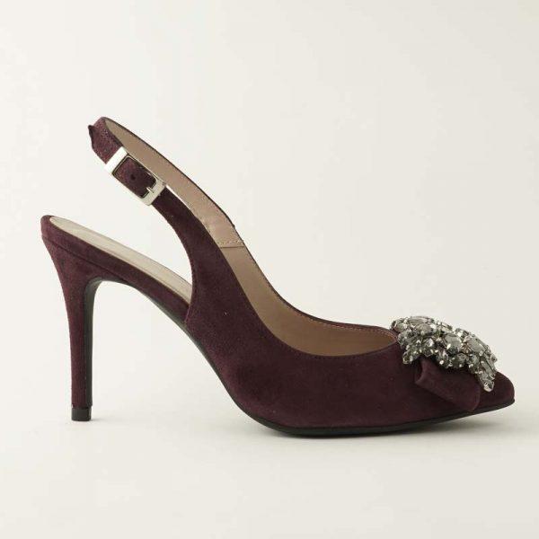 Zapato joya burdeos