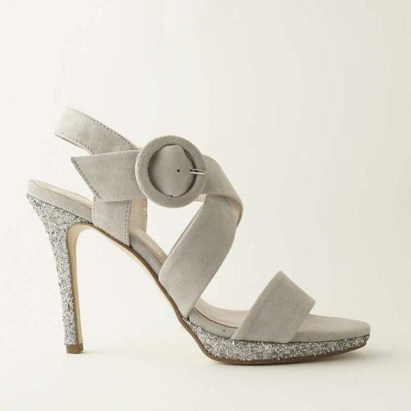 Sandalia glitter hielo