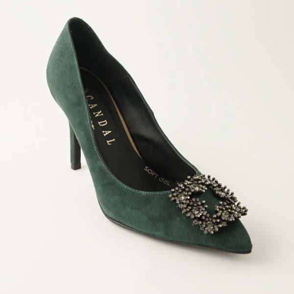 Zapato joya verde