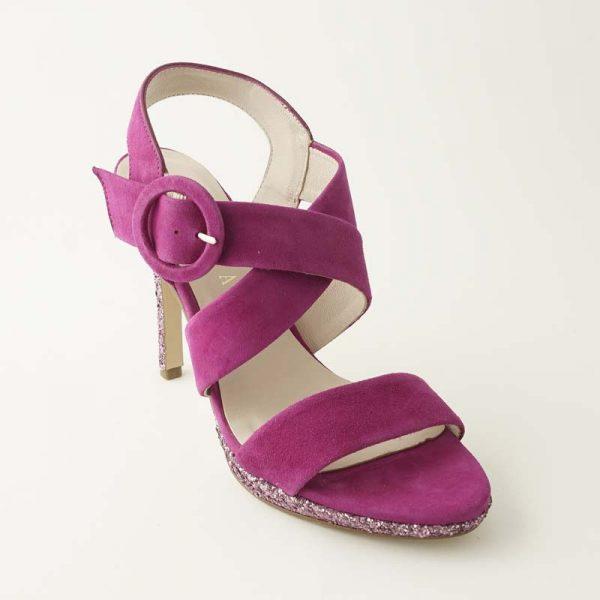 Sandalia glitter buganvilla