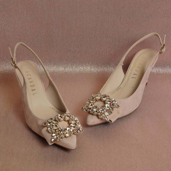 Zapato joya nude