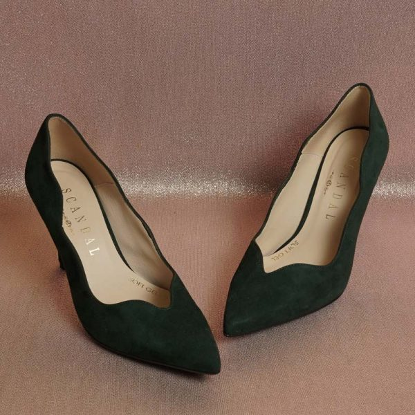 Stiletto ondas verde