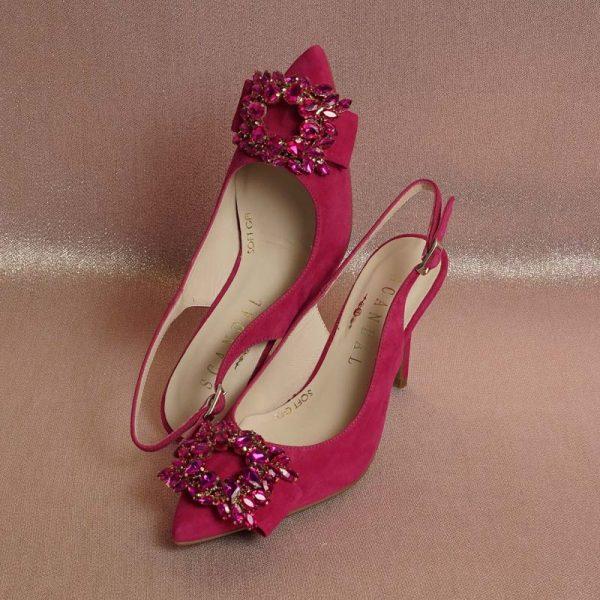 Zapato joya fucsia