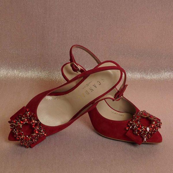Zapato joya rojo