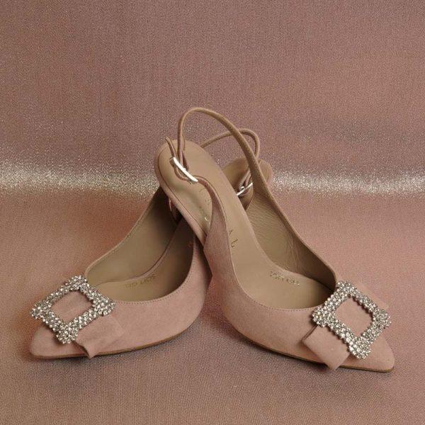 Zapato joya rosa palo
