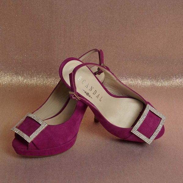 Peeptoe joya púrpura