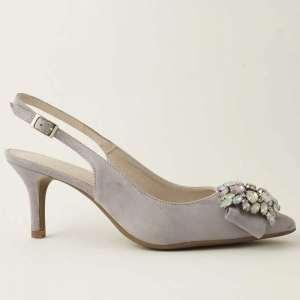 Zapato joya lila